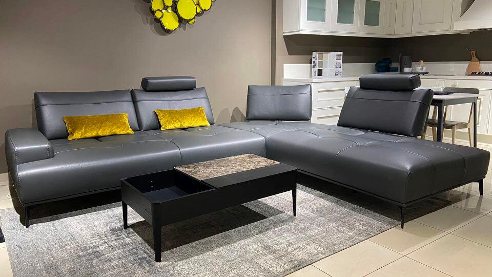 Итальянский модульный диван Nicoline Egeo ткань-кожа итальянская мебель в Одессе