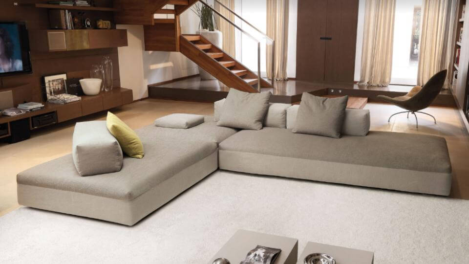 Итальянский модульный диван Desiree Monopoli ткань-кожа итальянская мебель в Одессе