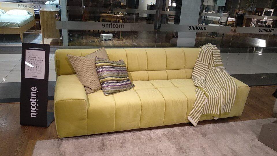 Итальянский модульный диван Nicoline Bric ткань-кожа итальянская мебель в Одессе