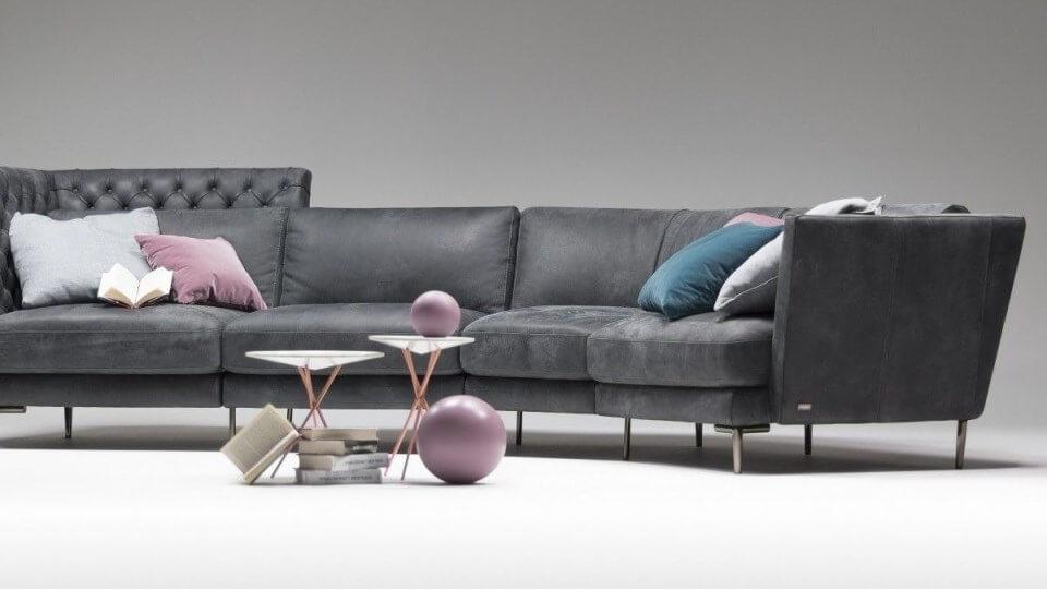Итальянский дизайнерский диван Nicoline Giglio ткань-кожа итальянская мебель в Одессе
