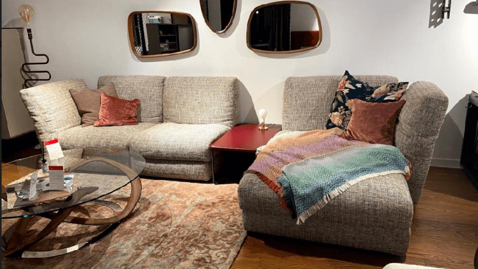 Итальянский модульный диван Bonaldo Cortina ткань-кожа итальянская мебель в Одессе
