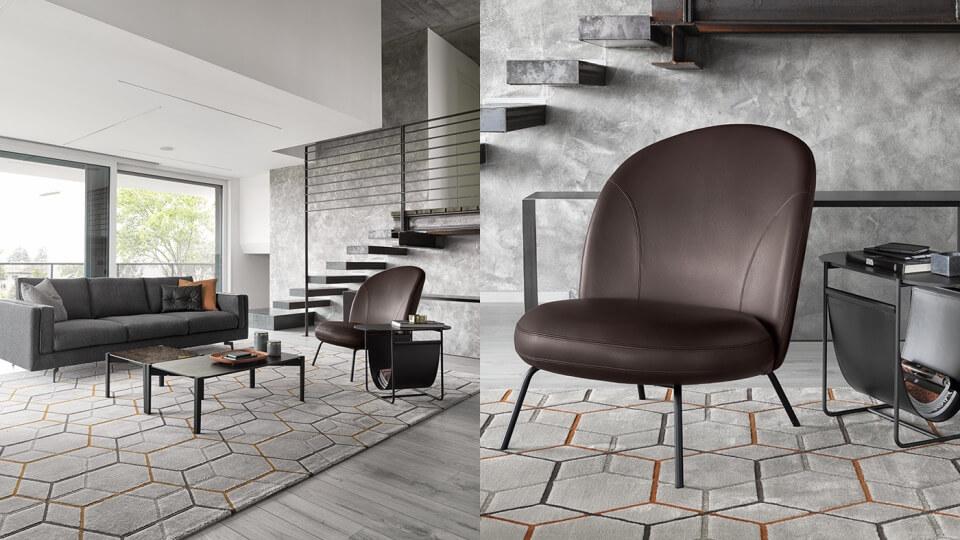 Кресло Calligaris Puffy в мягкой обивке итальянская мебель в Одессе