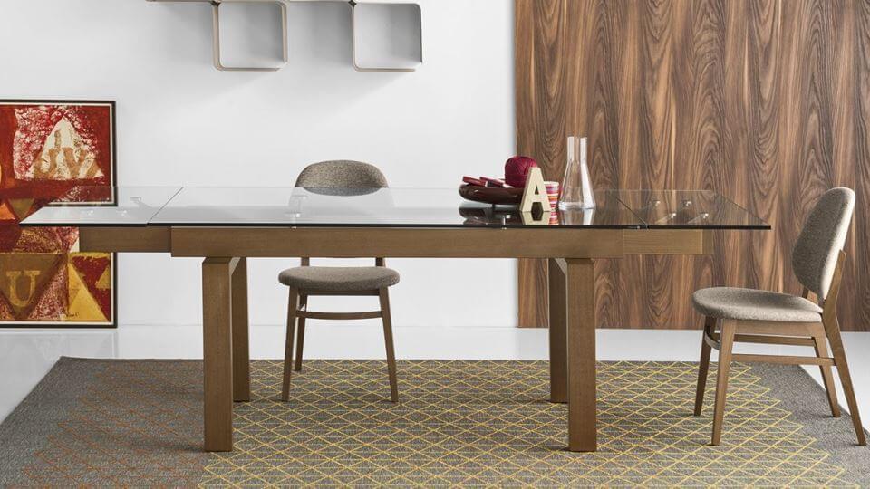 Стол обеденный Caligaris Hyper прямоугольный раскладной итальянская мебель в Одессе