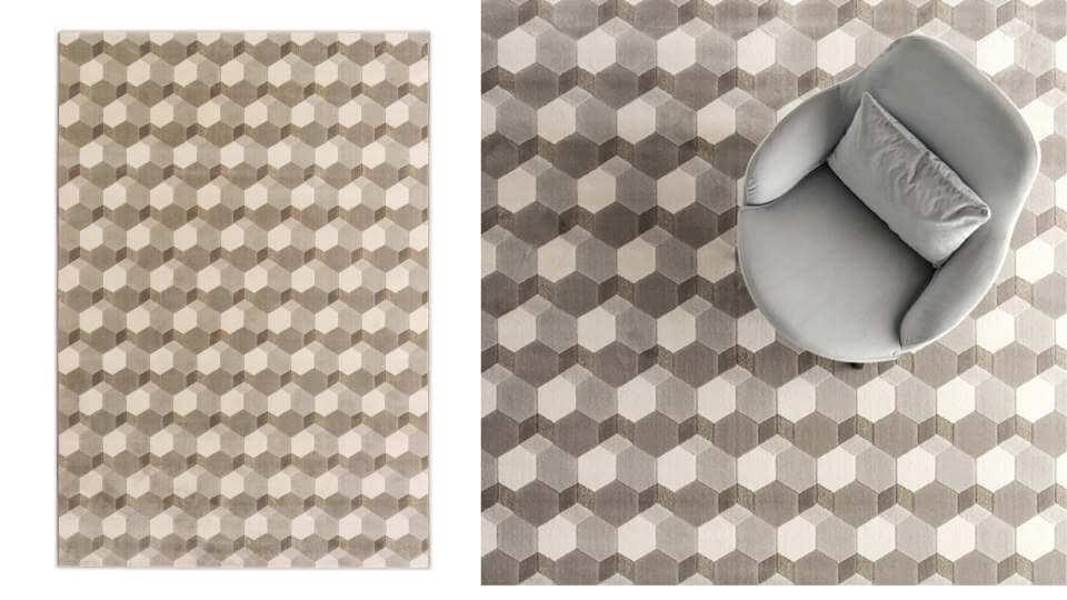 Ковер Calligaris Cementino из синтетических волокон (полиэстра и полипропилена), в нескольких размерах итальянская мебель в Одессе