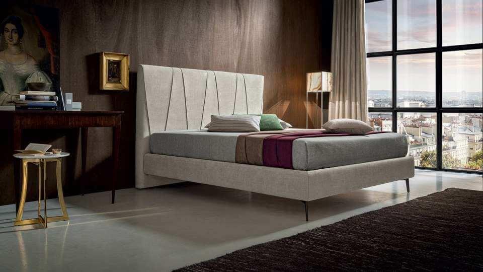 Кровать Felis Julius в мягкой обивке из ткани с коробом для хранения вещей итальянская мебель в Одессе