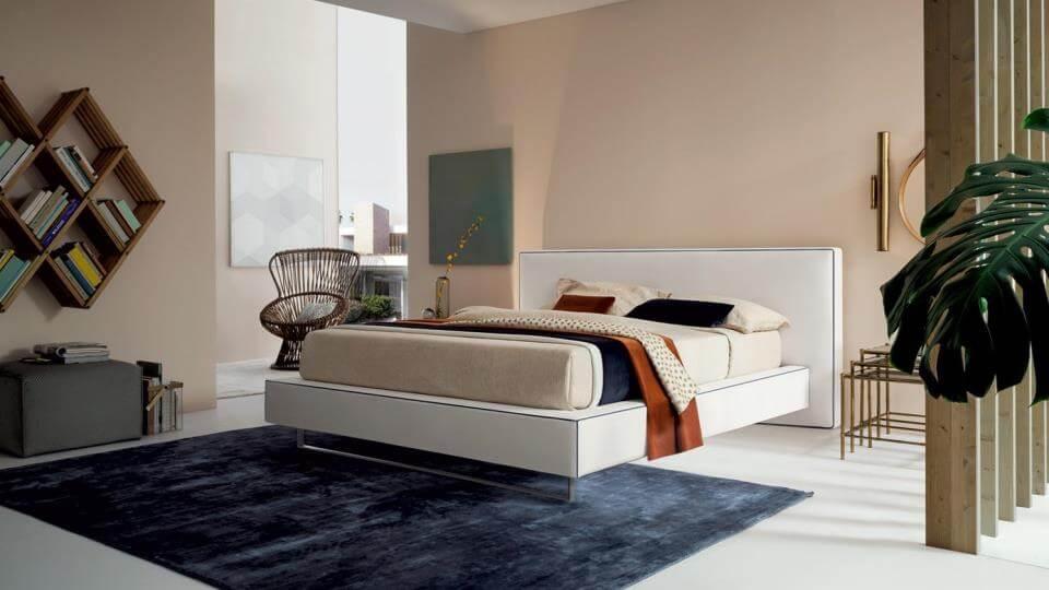 Кровать Felis Bolton с мягким изголовьем и основанием из ткани с коробом для хранения вещей итальянская мебель в Одессе