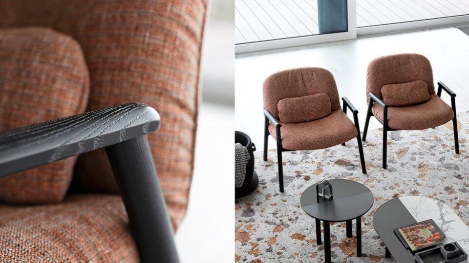 Кресло Calligaris Baltimora в мягкой обивке итальянская мебель в Одессе