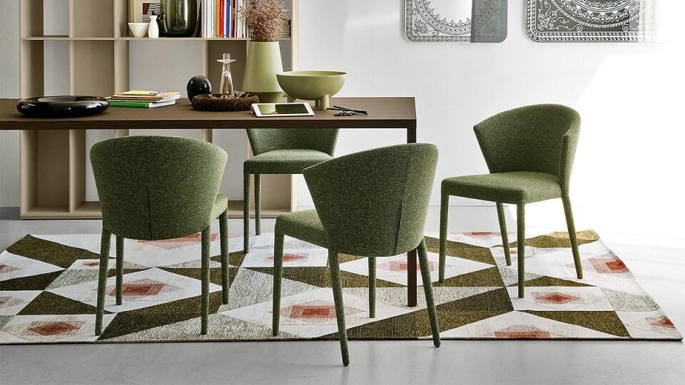 Стул Calligaris Amelie обеденный/Home oficce в мягкой обивке разных цветов и фактур итальянская мебель в Одессе