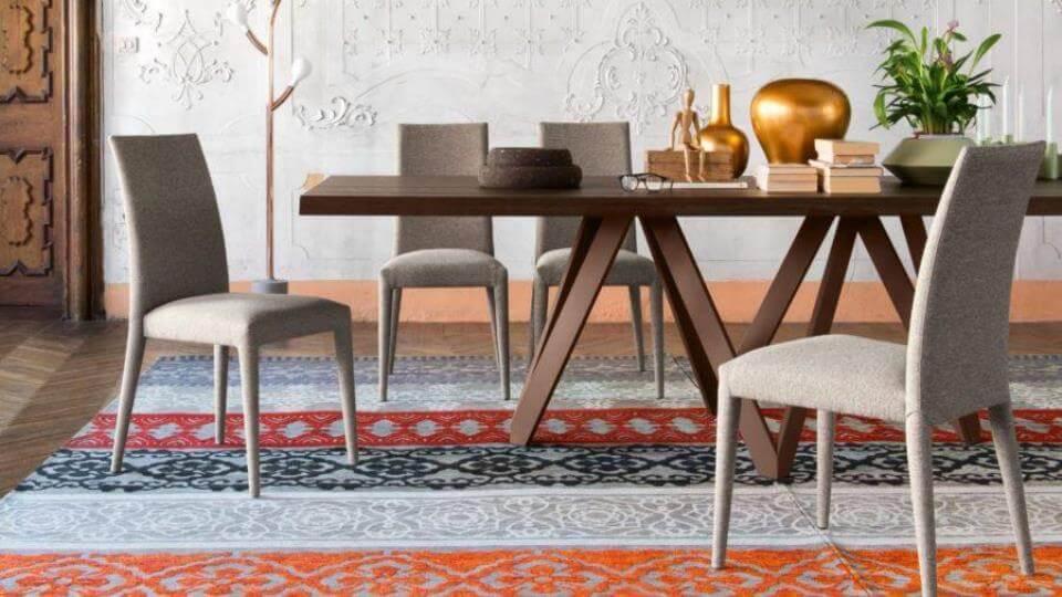 Стул обеденный Calligaris Anais в мягкой обивке разных цветов и фактур итальянская мебель в Одессе