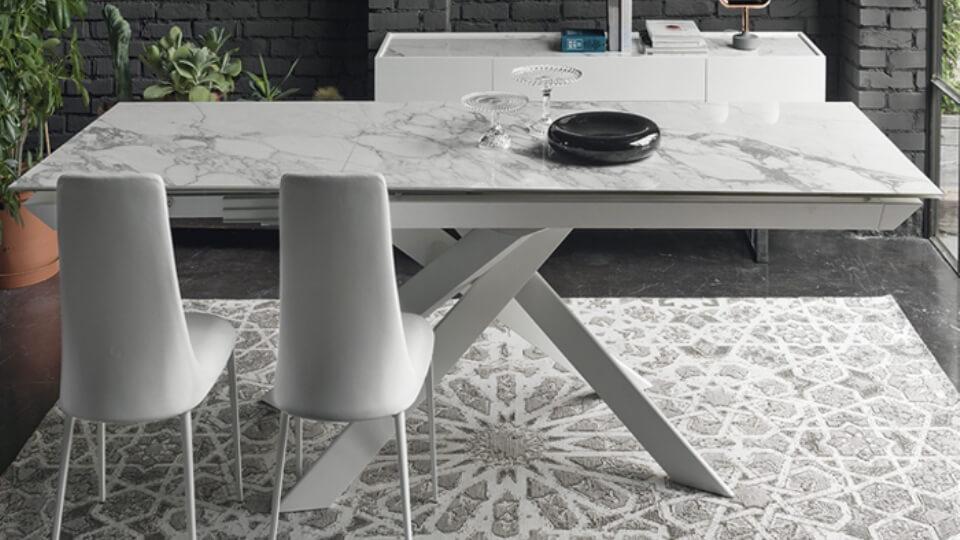 Стол обеденный Calligaris Eclisse прямоугольный раскладной итальянская мебель в Одессе