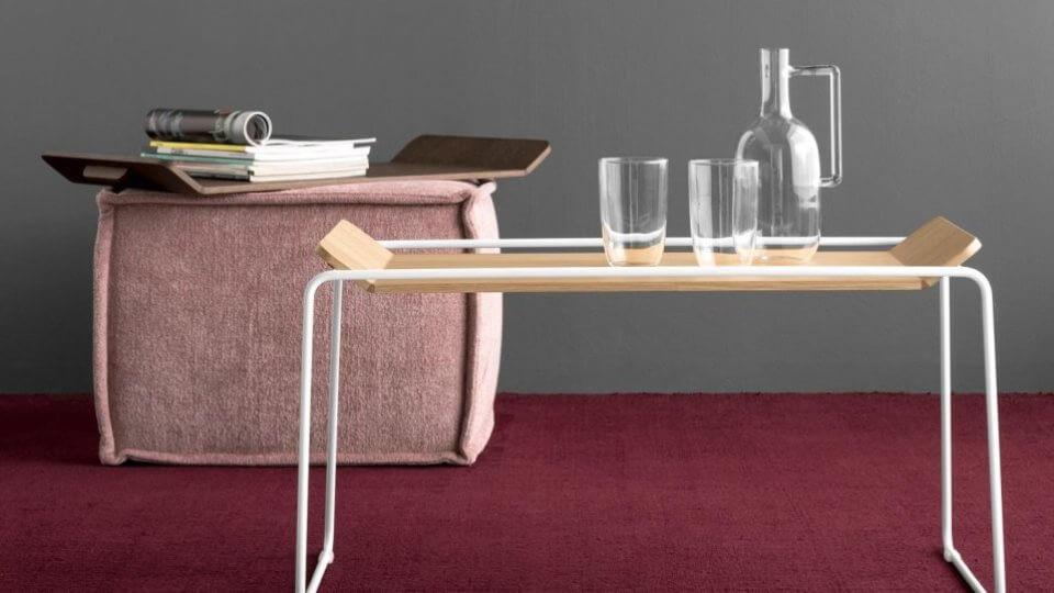 Журнальный стол/поднос Calligaris Filo со съемной столешницей итальянская мебель в Одессе
