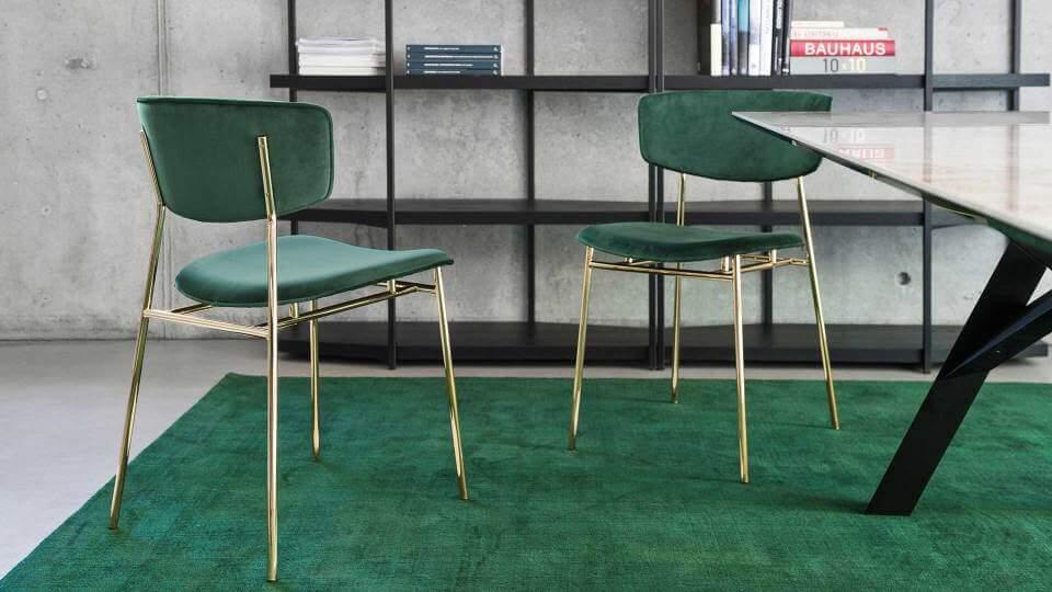 Стул Calligaris Fifties обеденный/барный/полубарный в мягкой обивке итальянская мебель в Одессе