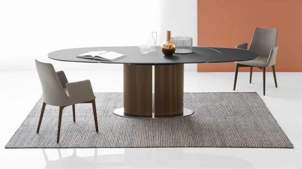Стол обеденный Calligaris Odyssey овальный раскладной итальянская мебель в Одессе