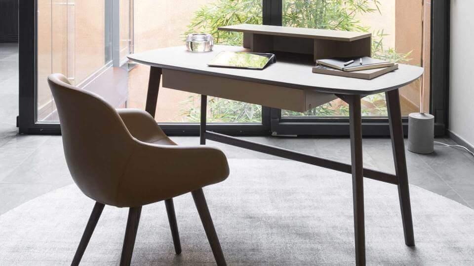 Calligaris Match стол письменный шпонированный итальянская мебель в Одессе