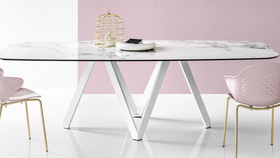 Стол обеденный Calligaris Cartesio прямоугольный/круглый/со скругленными краями раскладной/не раскладной итальянская мебель в Одессе