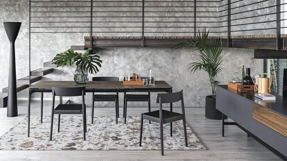 Стол обеденный Calligaris Silhouette прямоугольный/со скругленными краями раскладной итальянская мебель итальянская мебель в Одессе