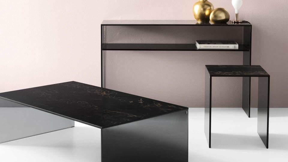 Журнальный стол/консоль Calligaris Bridge квадратной формы итальянская мебель в Одессе