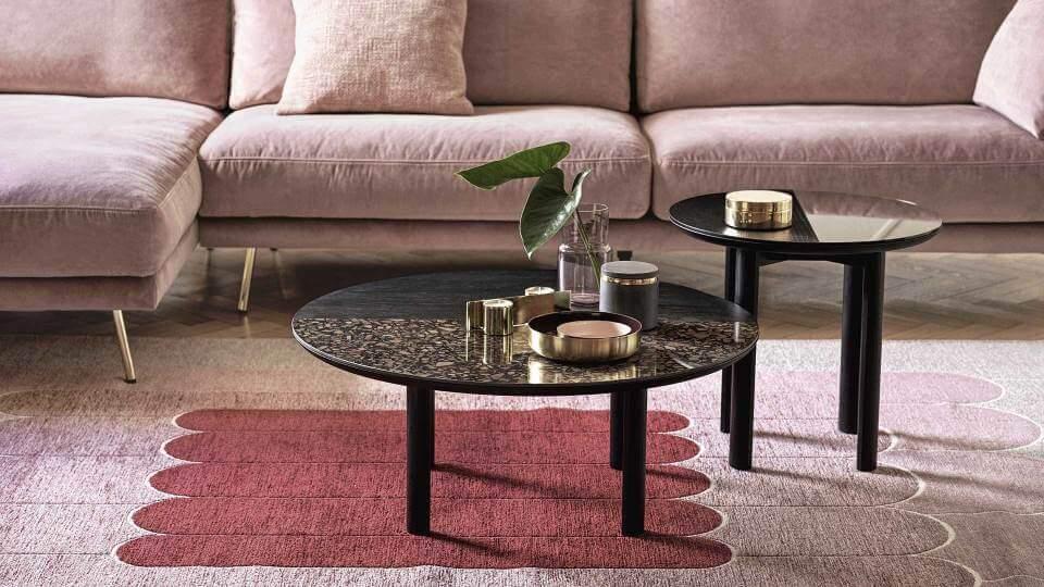 Журнальный стол Calligaris Bam с керамической/шпонированной столешницей круглой формы итальянская мебель в Одессе