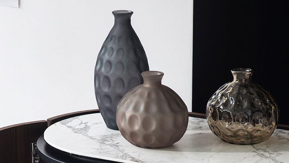 Ваза Calligaris Bolle из прозрачного и матового стекла итальянская мебель в Одессе