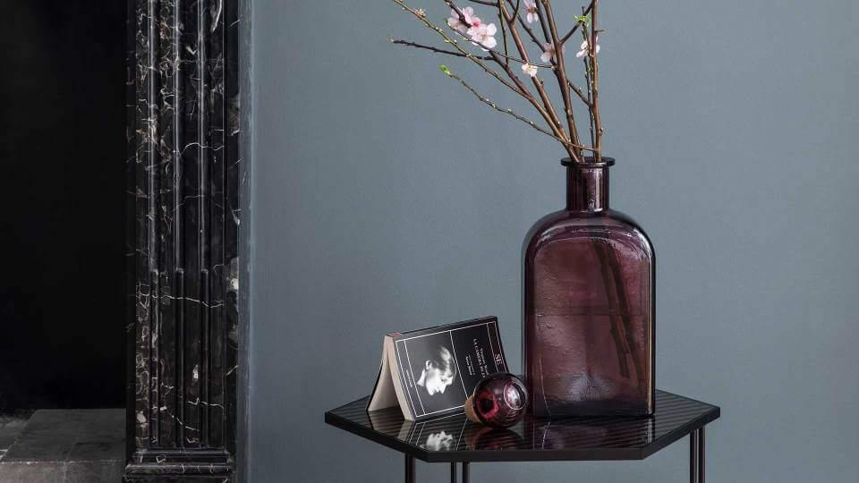 Ваза/графин Calligaris Babylon из стекла в темно-розовом цвете итальянская мебель в Одессе