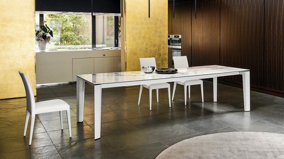 Стол обеденный Calligaris Delta прямоугольный раскладной итальянская мебель в Одессе