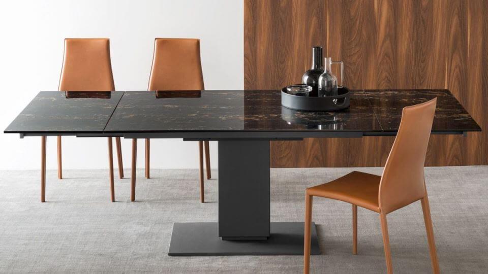 Стол обеденный Calligaris Echo прямоугольный/со скругленными краями раскладной итальянская мебель в Одессе