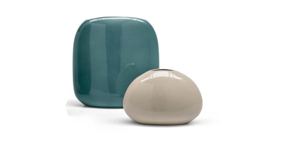 Вазы керамические Calligaris Flavour разной формы и в разных цветовых решениях итальянская мебель в Одессе