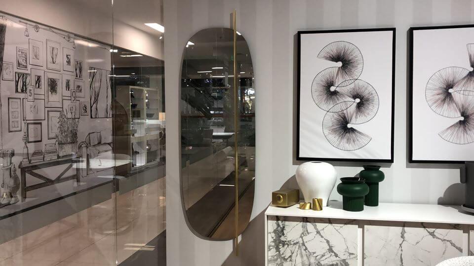 Зеркало Calligaris Vanity круглой/овальной формы с металлическим декоративным элементом итальянская мебель в Одессе