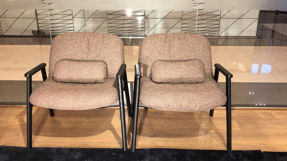 Кресло Calligaris Baltimora в мягкой обивке из ткани разных фактур и деревянным каркасом итальянская мебель в Одессе
