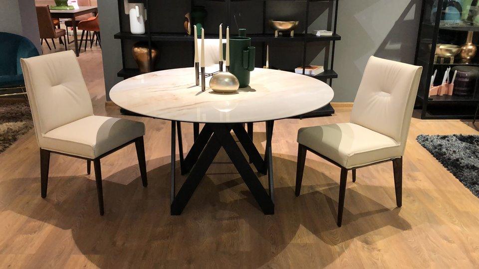 Новинка! В наличии стол Cartesio от итальянской фабрики Calligaris, c не раскладной керамической столешницей ( цвет - Golden Onyx ), на металлической ноге ( цвет - Matt Black). Габариты: 140 х 140 х 75 итальянская мебель в Одессе