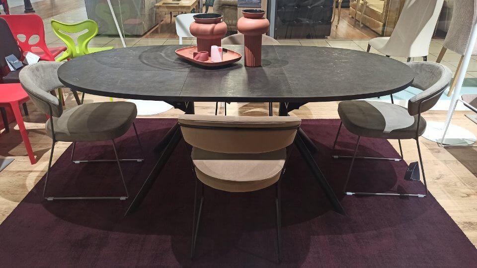 Стол Connubia Giove обеденный раскладной c керамической столешницей на металлических ножках разных цветов итальянская мебель в Одессе