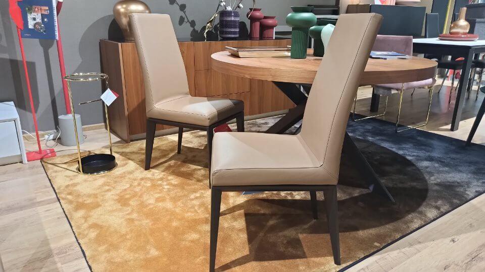Стул обеденный/для домашнего офиса Bess от итальянской фабрики Calligaris в мягкой обивке итальянская мебель в Одессе