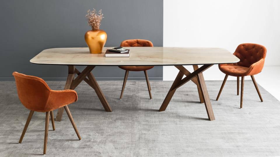 Стол обеденный Calligaris Jungle круглый/со скругленными краями итальянская мебель в Одессе