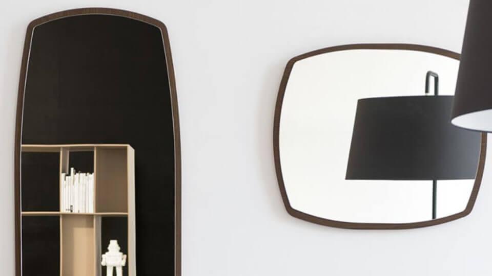 Зеркало Calligaris Mirror в деревянной оправе итальянская мебель в Одессе
