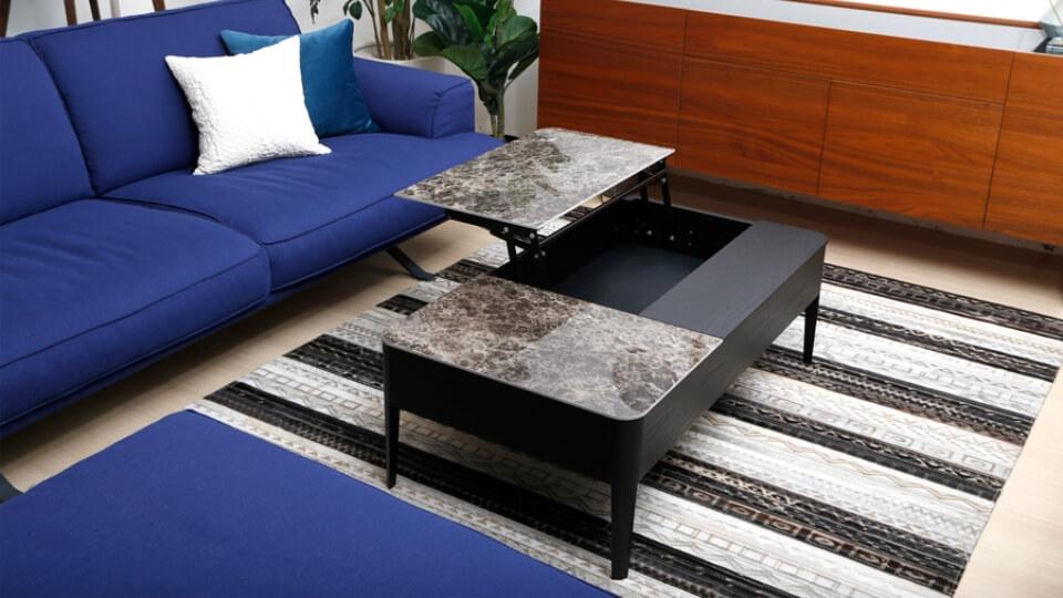 Журнальный стол Calligaris Around с шпонированным корпусом и керамической раскладной столешницей итальянская мебель в Одессе