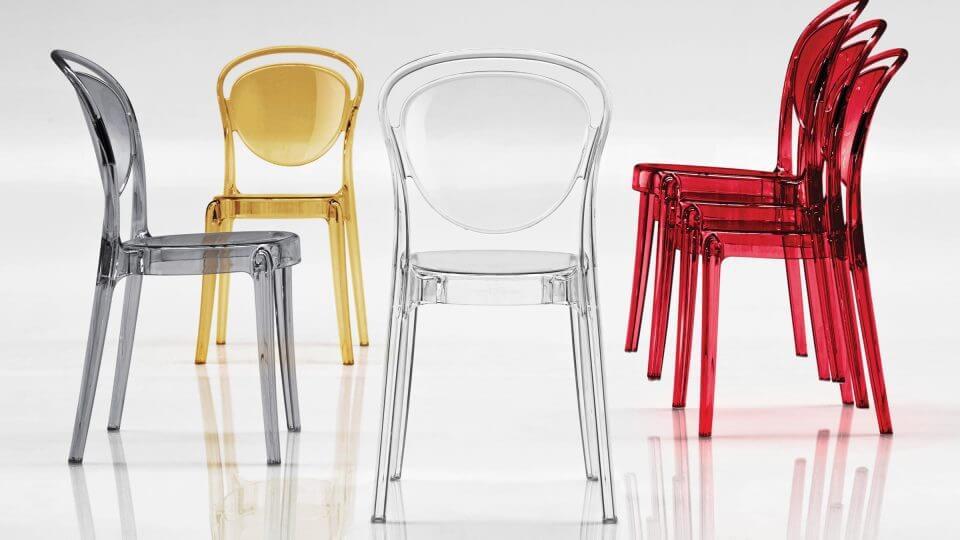 Стул Calligaris Parisienne обеденный из поликарбоната разных цветов итальянская мебель в Одессе