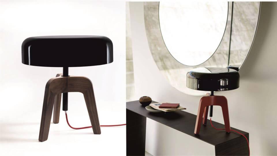 Лампа Porada Pileo Bassa из массива ореха итальянская мебель в Одессе