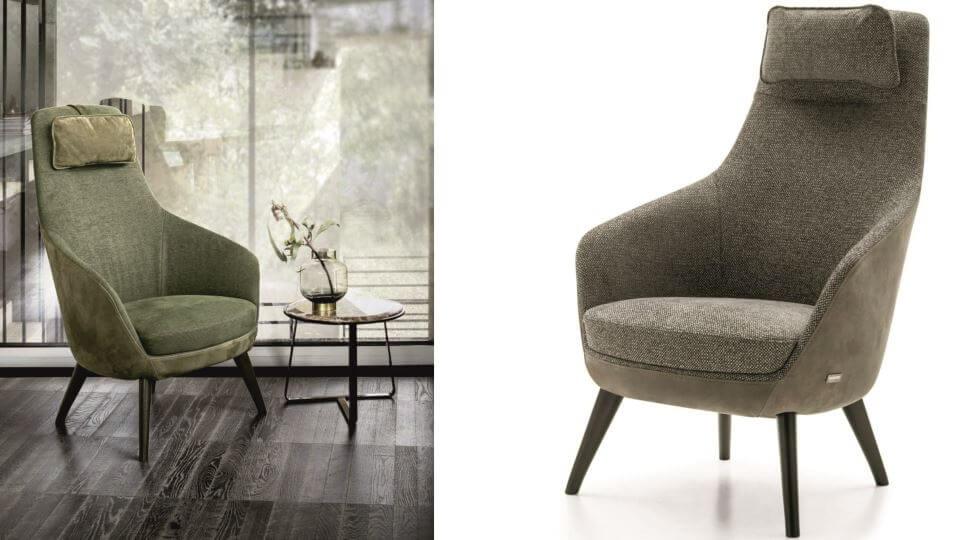 Кресло Nicoline Bonola в мягкой обивке итальянская мебель в Одессе
