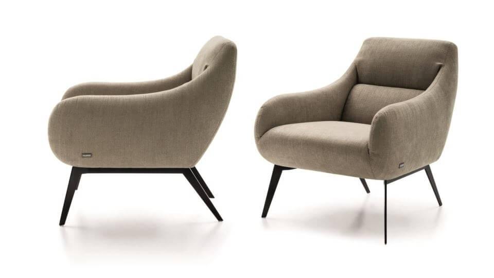 Кресло Nicoline Dia в мягкой обивке итальянская мебель в Одессе