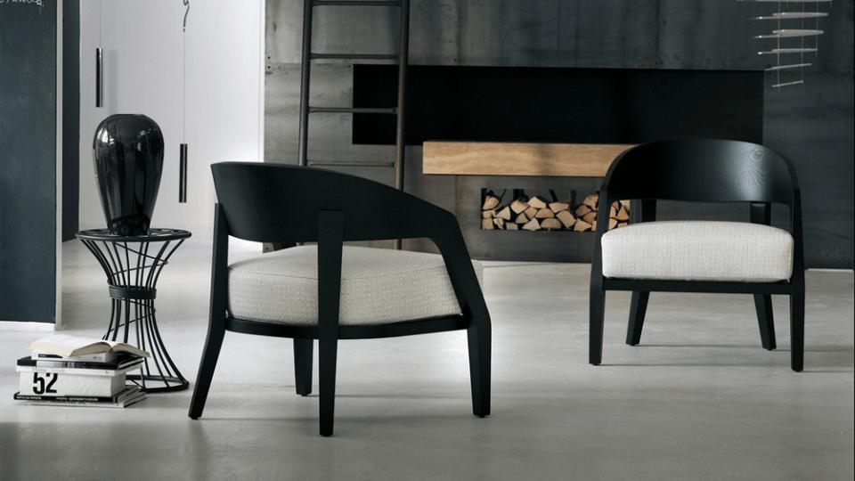 Кресло Porada Alba с каркасом из массива ясеня или ореха итальянская мебель в Одессе