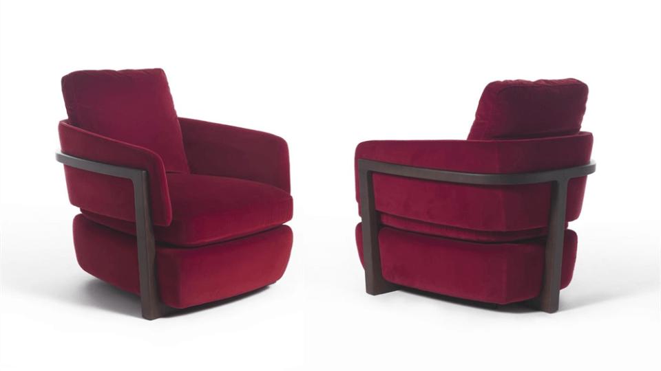 Кресло Porada Arena poltrona со структурой из массива ясеня итальянская мебель в Одессе
