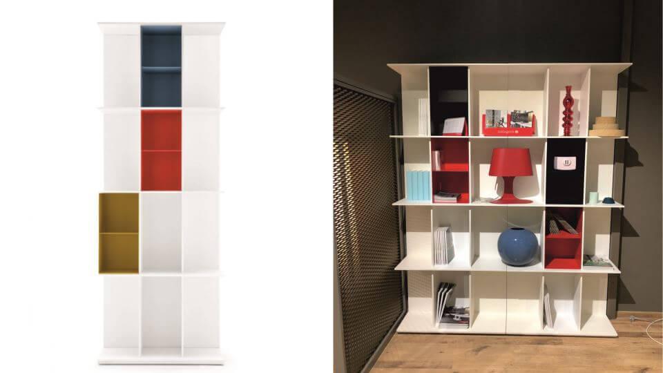 Стеллаж из двух модулей Division итальянской фабрики Calligaris итальянская мебель в Одессе