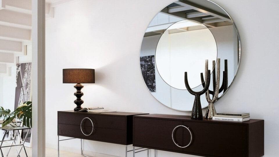 Круглое настенное зеркало итальянская мебель в Одессе