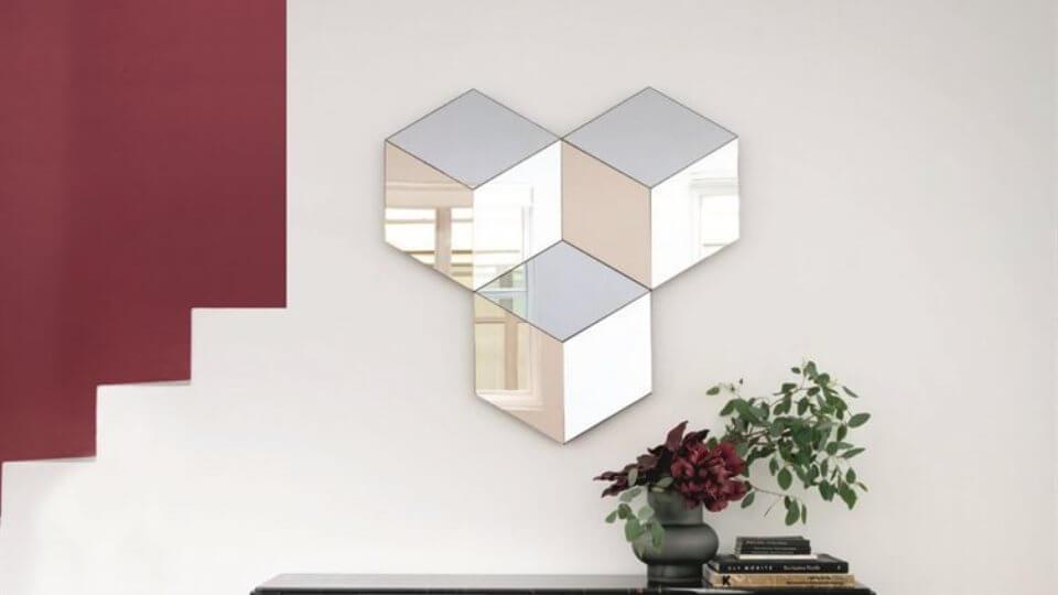 Шестиугольное настенное зеркало Porada Ego итальянская мебель в Одессе