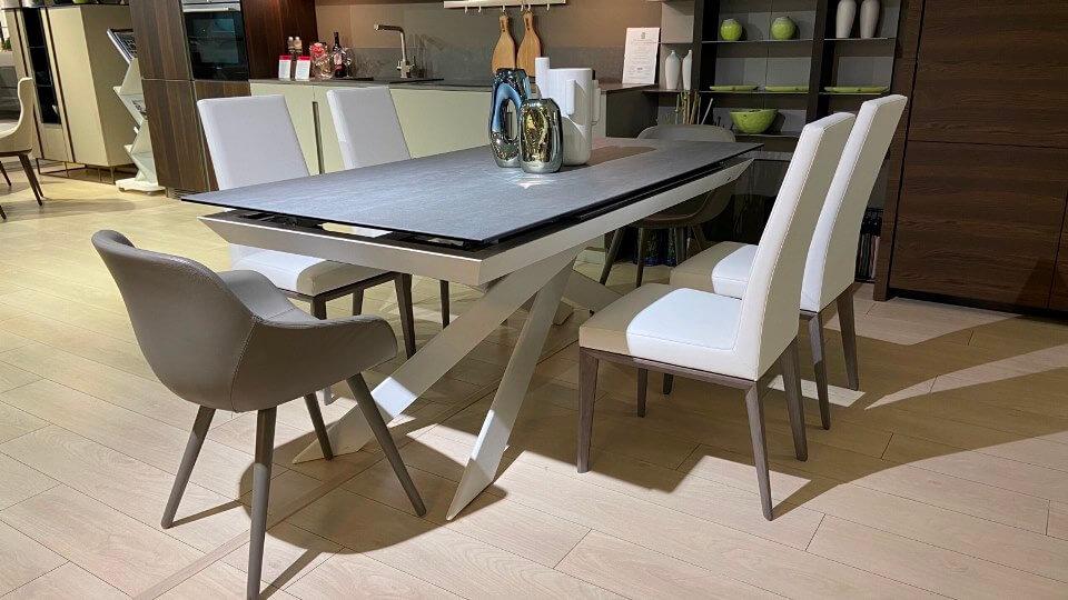 Стол обеденный Calligaris Eclisse с раскладной керамической столешницей прямоугольной формы итальянская мебель в Одессе