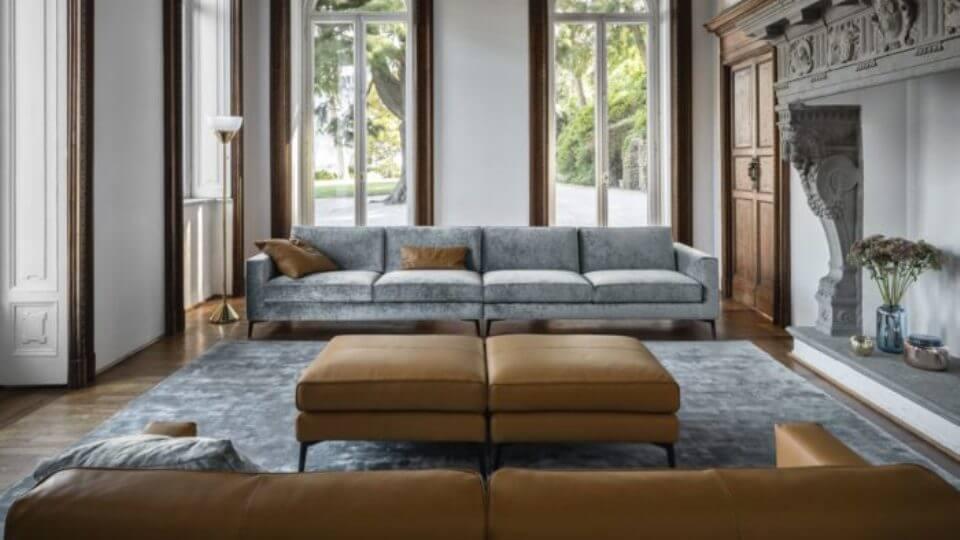 Модульный диван Nicoline Nausicaa простой и изысканный итальянская мебель в Одессе