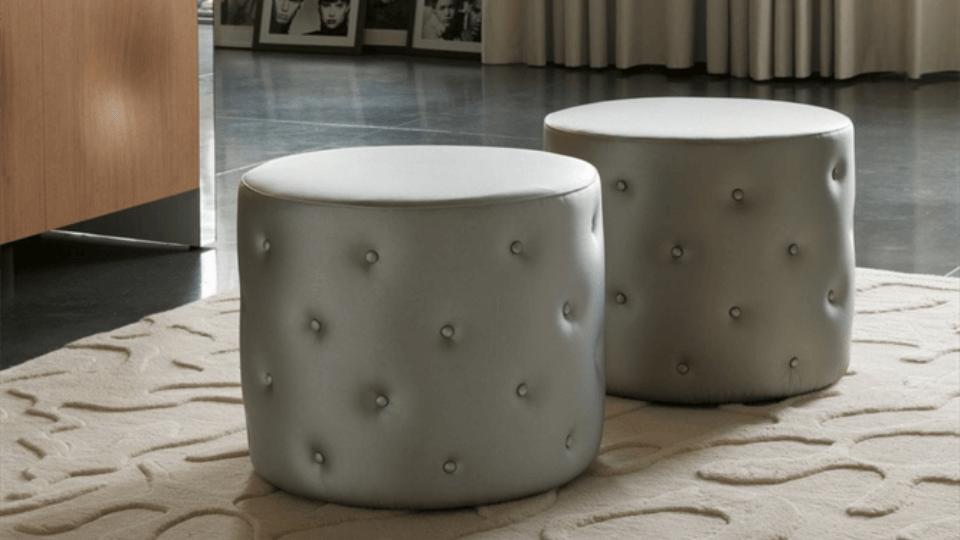 Мягкий пуф Porada Snap с обивкой из ткани или кожи итальянская мебель в Одессе