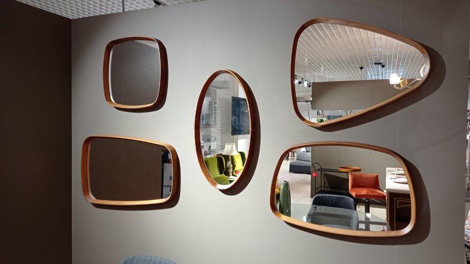 Зеркала Mix от итальянской фабрики Porada в раме из массива дерева с разными габаритами и формами итальянская мебель в Одессе