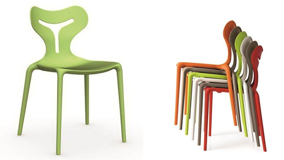 Стул обеденный Area от итальянской фабрики calligaris из полипропилена в цвете Light green итальянская мебель в Одессе
