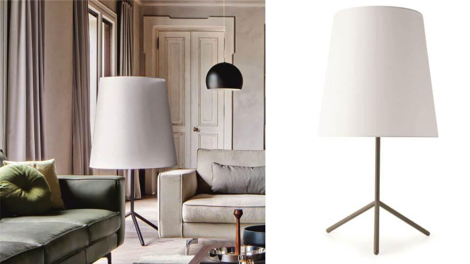 Лампа напольная/торшер Big Wave от итальянской фабрики Calligaris с тканевым абажуром итальянская мебель в Одессе